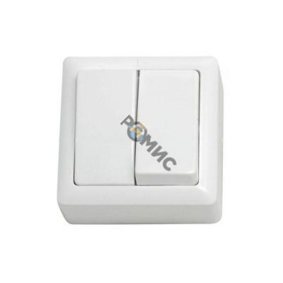 Выключатель 2-кл. ОП Хит 6А белый ВА56-232