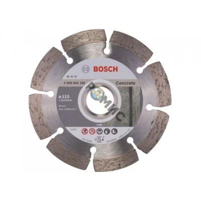 Алмазный круг 115х22,23мм бетон Professional  (2608602196)