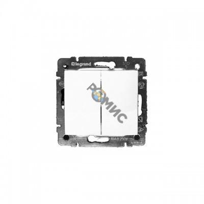 Механизм выключателя 2-кл. VALENA белый