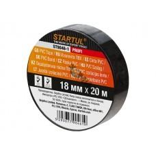 Изолента ПВХ чёрная 18ммх20м STARTUL PROFI (ST9046-1)