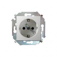 Механизм розетки 1-м Simon15 с заземл. белый 1591432-030