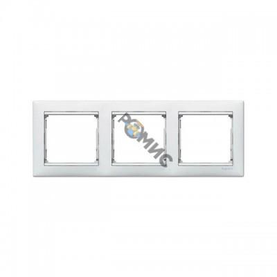 Рамка 3-м VALENA горизонтальная белая