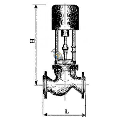 Клапан регулирующий седельный (КРС-25-4,0) скоростной РБ