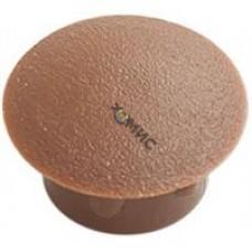 Заглушка декоративная под отверстие D16, коричневая (упак/1.000шт), РФ
