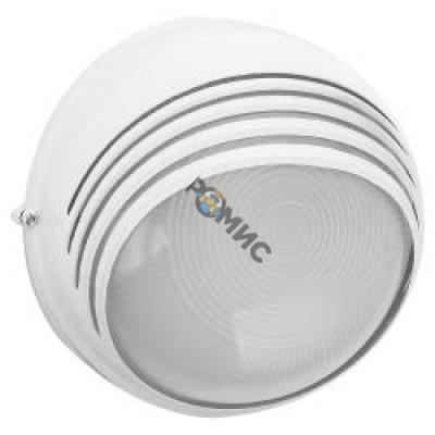 Светильник НПБ 1107 белый круглый ресн. 100Вт IP54 Альфа Лайт