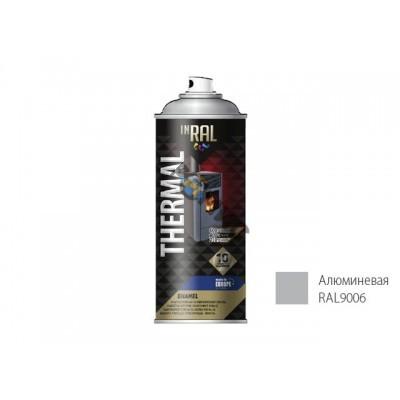 Эмаль аэроз. термостойкая силиконовая алюминиевая (9006) INRAL THERMAL 400мл