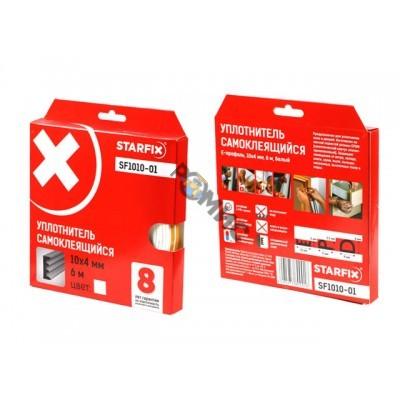 Уплотнитель E белый 10х4мм   6м STARFIX (SF1010-01)