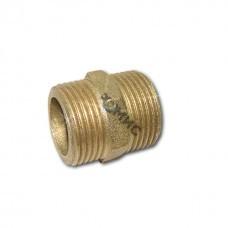 Ниппель двойной (латунный) НР Ду-20 ( индив.упаковка) РБ