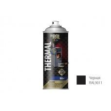 Эмаль аэроз. термостойкая силиконовая черная (9011) INRAL THERMAL 400мл (Литва) 26-7-4-003