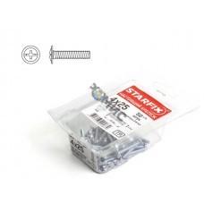 Винт  4х25 мм для мебельной фурнитуры, цинк, кл.пр. 5.8, DIN 967 (50 шт в пласт. конт.) STARFIX, Россия