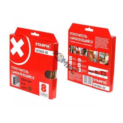 Уплотнитель E коричневый 10х4мм 6м STARFIX (SF1010-02)