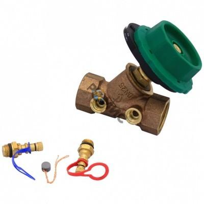 Клапан балансировочный RC2105 Ду 15  Pn20 (с измерит.ниппелями) Kvs=3,24 RC2105-0015