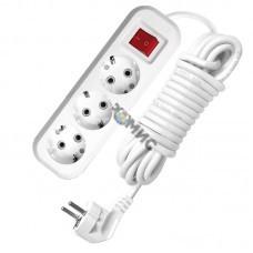 Удлинитель 3х5м с заземл.c выкл. ПВС 3х1 UNIVersal