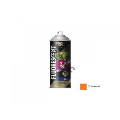 Краска-эмаль аэроз. флуоресц. оранжевый INRAL FLUORESCENT ACRYLIC ENAMEL 400мл