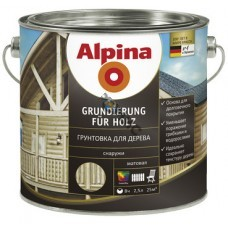 Alpina Грунтовка для дерева (Alpina Grundierung fuer Holz) 750мл