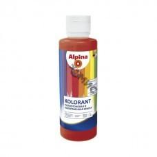 Краска акрил. в/д Alpina Kolorant Красно-коричневый 500мл