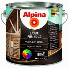Лазурь алкидн. Alpina Лазурь для дерева (Alpina Lasur fuer Holz) Красное дерево 750 мл