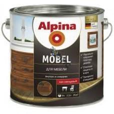 Лак алкидн. Alpina Для мебели (Alpina Moebel) шелковисто-матовый 750 мл / 0,701 кг