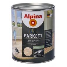 Лак Alpina Parkett (для паркета) шелковисто-матовый  2,5 л