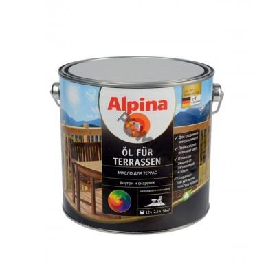 Масло Alpina Масло для террас (Alpina Oel fuer Terrassen) Светлый 750 мл