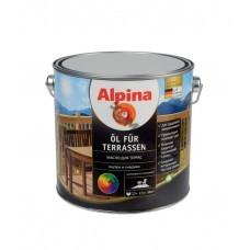 Масло Alpina Масло для террас (Alpina Oel fuer Terrassen) Темный 750 мл