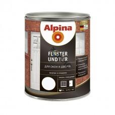 Эмаль алкидная Alpina Fenster und Tuer (Для окон и дверей) Белый 750м
