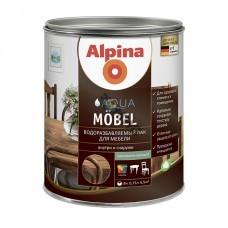 Лак Alpina Aqua Moebel (для мебели) шелковисто-матовый 750 мл