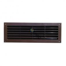Решетка дверная, пластмассовая, 450x92мм, коричневая VR459B Латвия