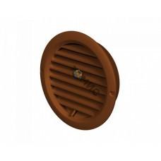 Решетка вентиляционная, пластмассовая, д125мм, коричневая VR125B