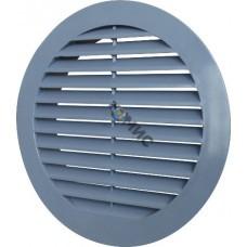 Решетка вентиляционная, пластмассовая, д150мм, серая VR150P