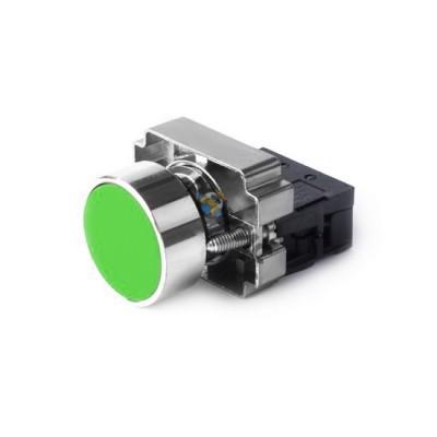 Кнопка ХВ2-ВА31 зеленая НО цилиндр SHCEТ, Китай
