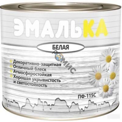 Эмаль ПФ 115 белая 11,0 кг (10л), ТУ  ЭМАЛЬКА для отделочн. наружн. и внутр. работ РБ