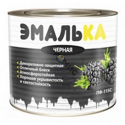 Эмаль ПФ 115 чёрная 2,0л ЭМАЛЬКА