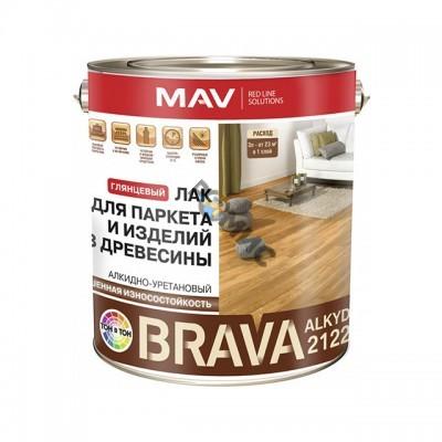 Лак BRAVA ALKYD 2122 для паркета и дерева бесцветный глянцевый 1,0л