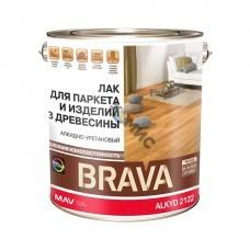 Лак BRAVA ALKYD 2122 для паркета и изделий из дер. (АУ-2122) бесцв. глянцевый  3,0л (2,3кг)