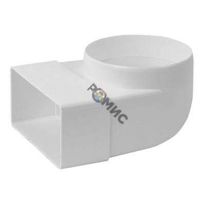 Колено с диаметром пластмассовое, 110х 55мм, ф100мм  KLD