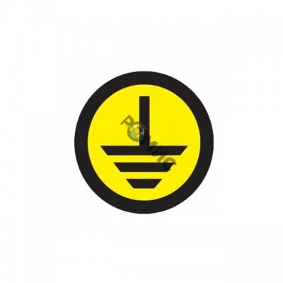 Знак земля круглый EKF an-1-04