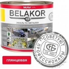 Эмаль Belakor 12 по металлу медно-кор 2,4л (2кг),  атмосферостойкая быстросохнущая , РБ