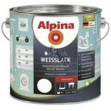 Эмаль акрил. Alpina Водоразбавляемая Белая эмаль (Alpina Aqua Weisslack) шелковисто-матовая 750мл / 0,915кг, Германия