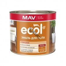 Эмаль для пола ECOL желто-коричневая (2,4л)
