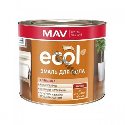 Эмаль для пола ECOL светло-коричневая (2,4л)
