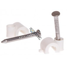 Скоба для крепления круглого кабеля  4 мм