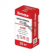 Шпатлёвка цементн. ILMAX 6400 (20кг) финишная белая, для наружн. и внутр. работ 20кг