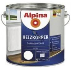 Эмаль для радиаторов алкидн. Alpina (Alpina Heizkoerper) Белый 2,5л/ 2,85кг