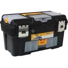 Ящик для инструмента 18 ГЕФЕСТ  пластмассовый  мет.замки ( с консолью и коробками) М2944