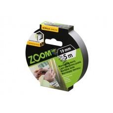Лента двухсторонняя монтажная клейкая  ZOOM (пеновая) 19ммх5м
