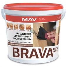 Шпатлевка ПРОФИ-1 (дуб) (0,3 кг) BRAVA ACRYL PROFI-1