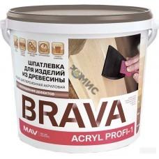 Шпатлевка ПРОФИ-1 белая  (0,3 кг) BRAVA ACRYL PROFI-1