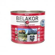 Грунт-эмаль BELAKOR 15 быстросохн. RAL 9004 (черный) мат 2,4 л (2 кг). РБ ,прямо по ржавчине