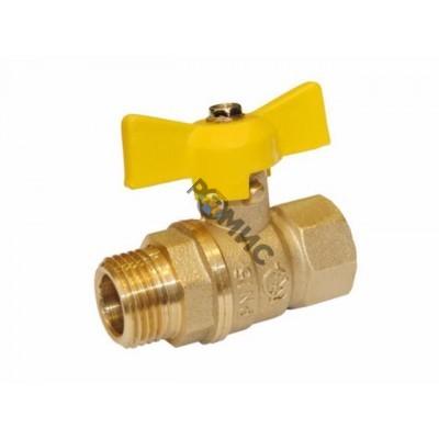 Кран шаровой DN 15 (МР) PN1.6МПа 11б27п6 ,м-ц (газ) р/баб. Цветлит